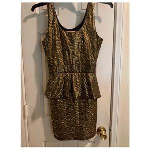 Metallic ladies dress